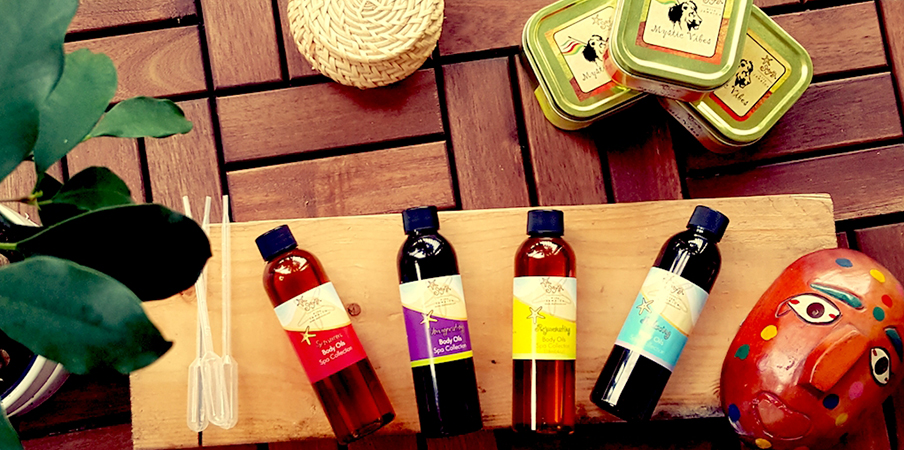 Try our Spa collection body oils